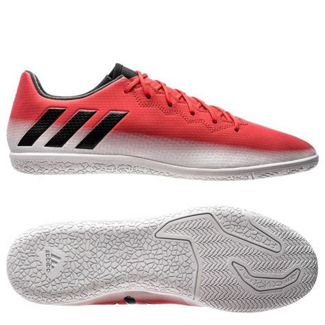 adidas   messi  indoor soccer shoes red black