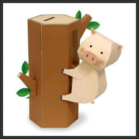How To Make A Paper Bank - piggy bank papercrafts papercraftsquare
