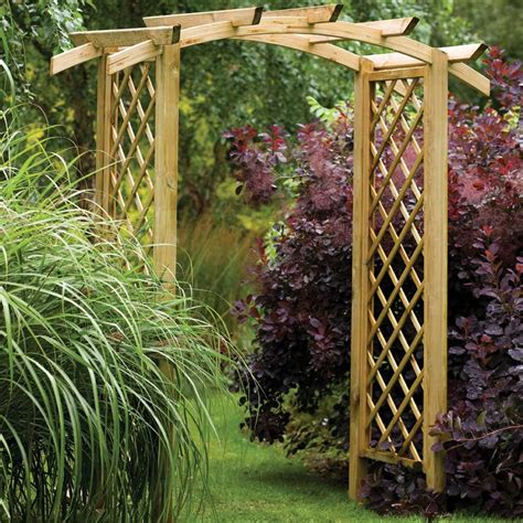 Garden Arch Forest Garden Genoa Arch Curved Notched Rafter Top And