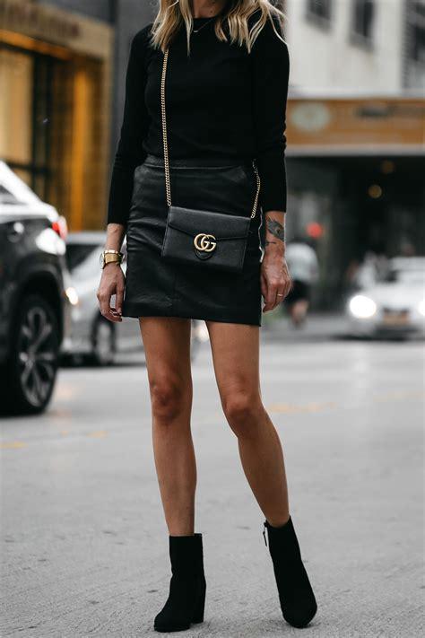 Stuart Weitzman Socute Handbag by A Stylish Way To Wear A Black Leather Mini Skirt Fashion