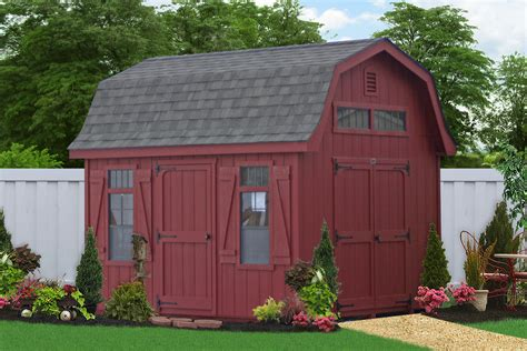 outdoor barns  sheds   backyard amish built sheds
