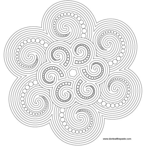 Free Coloring Pages Of Spiral Mandala