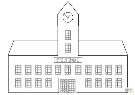 coloring pages for school building school building coloring page free printable coloring pages