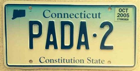 Connecticut Dmv Vanity Plates by Connecticut Vanity Pada 2 License Plate Sanskrit Pa Pad Ct