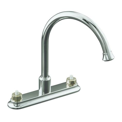 Kohler Faucets Kitchen Kohler Coralais 2 Handle Standard Kitchen Faucet In Polished Chrome K 15888 K Cp The Home Depot