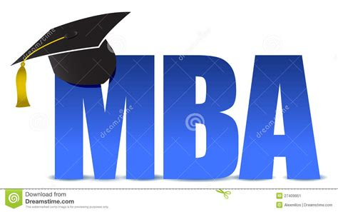 Mba And Masters by Mba Graduation Tassel Hat Stock Illustration Illustration