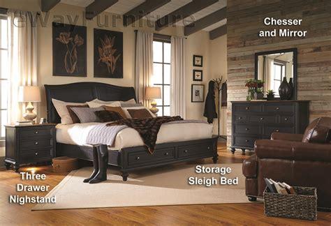 salem bedroom set salem antique black storage sleigh bed bedroom set