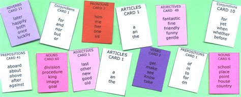 word cards for sentences sentence master writing challenge 1