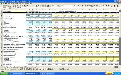 excel valuation template excel with yahoo finance building a flow valuation