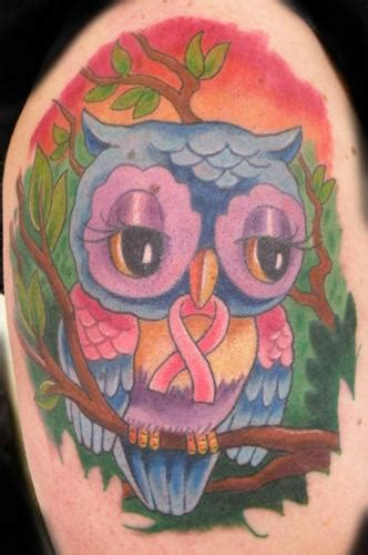 owl tattoo breast owl for breast cancer by mathew hays tattoonow