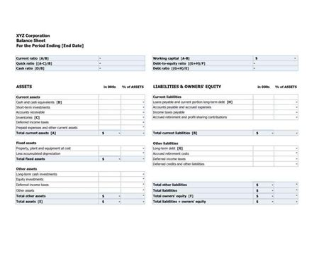 assets and liabilities template excel statement of assets and liabilities hmrc and personal