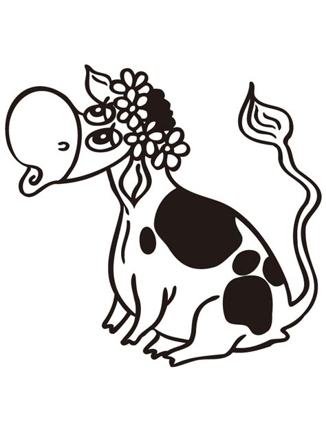coloring pages cows free printable cow cartoons pictures cliparts co