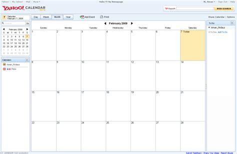 My Yahoo Calendar Yahoo Calendar Mendapat Beberapa Fungsi Baru Amanz
