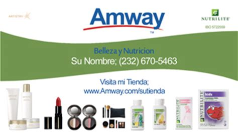 amway business card template amway business card