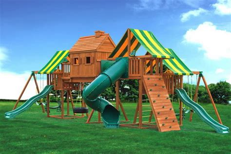 Backyard Playground Accessories by Residential Backyard Playground Equipments Adventurous
