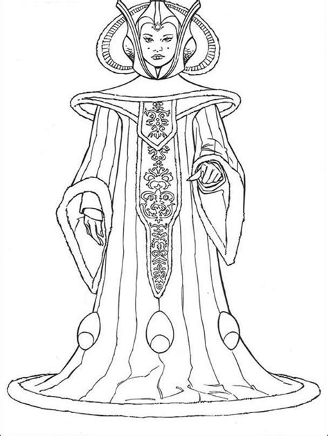 star wars coloring pages queen amidala padme coloring pages coloring home