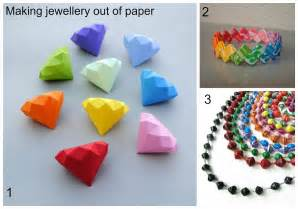 How To Make Diamonds Out Of Paper - summer jewellery part two using paper to