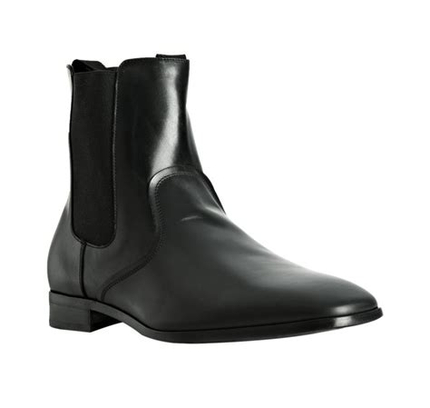 fab boots ferragamo black leather fab chelsea boots in black for
