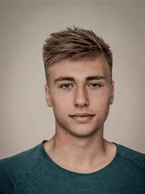 hairstyles for young guys with thin hair 37 best blonde hairstyles for men images on pinterest