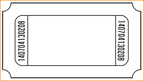 admission ticket template free blank admission ticket template with number