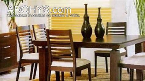 comedores modernos de madera  vidrio ma decoracion de
