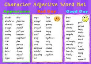 character adjective word mat this is a resource that i