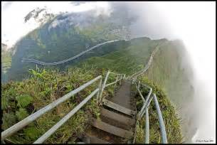Stairs Hawaii by Haiku Stairs Also Known As The Stairway To Heaven