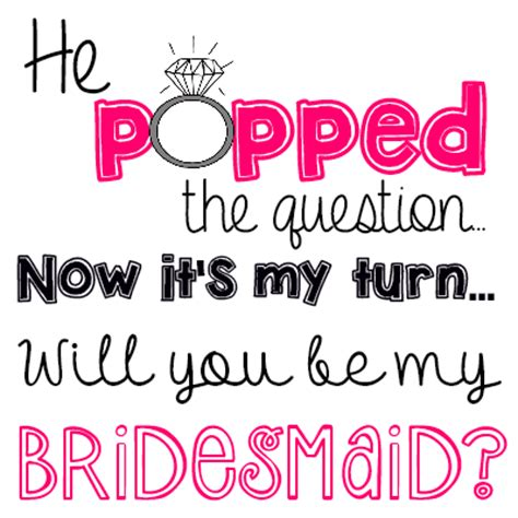 it s my turn now so what am i supposed to do books quot he popped the question quot bridesmaid ring pop idea