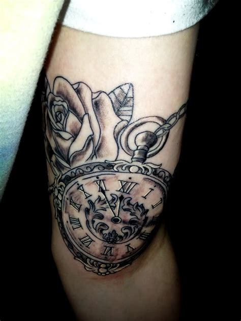 pocket watch rose tattoo 100 unique tattoos