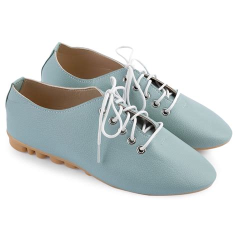 oxford shoes fashion fashion leather lace up pointed toe comfort flat