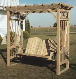 Garden Arbor Swing Amish Outdoor Wooden Garden Arbor Swing Cedar Pine Wood