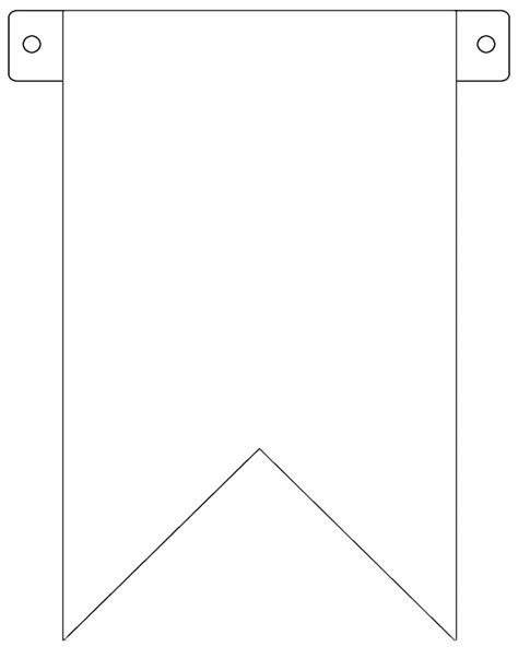 pennant template merlin and banners on