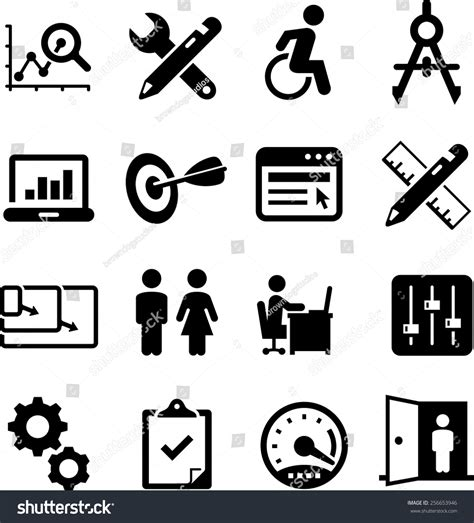 design usability icon web design usability ui and ux icon set vector icons