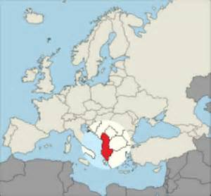 Albania Map In Europe by Where Is Albania On A Map Of Europe