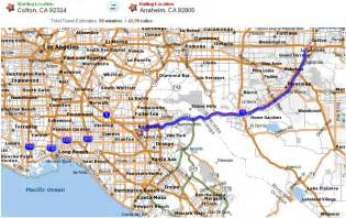 colton california map lax lbc anaheim ca 92805 125