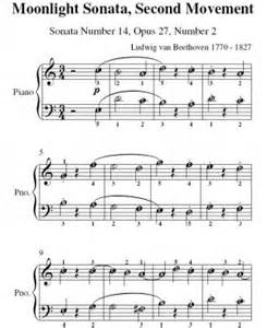 moonlight sonata easy to read piano tab method books moonlight sonata notes pdf