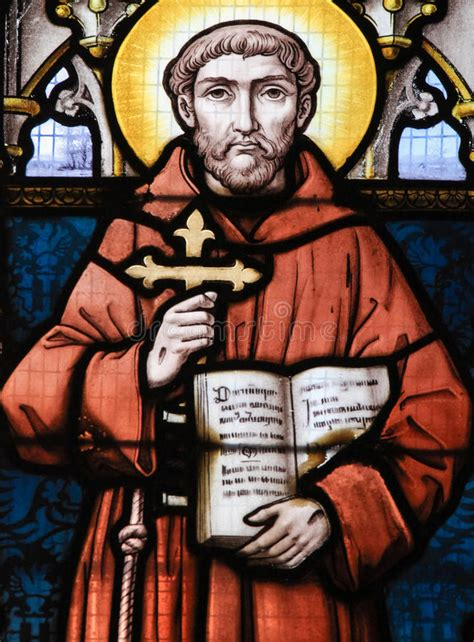 Hu Ze Lu Mba St Francis by Stained Glass Francis Of Assisi Stock Photo