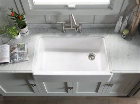 kohler farm sink 30 cast iron apron front farm sink kohler whitehaven