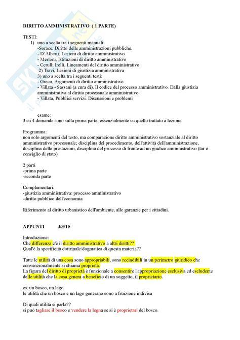 appunti diritto amministrativo