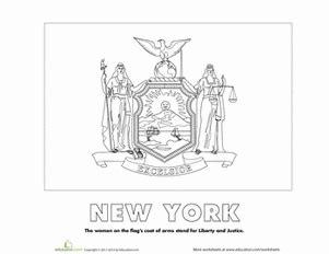 new york state flag worksheet education com