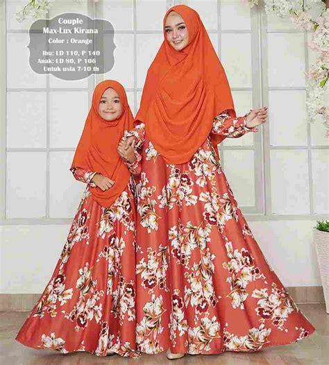 Gamis Ibu Dan Anak gamis ibu dan anak maxmara kirana orange baju