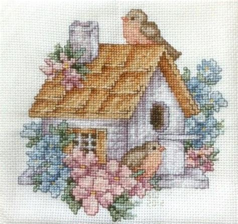 cross stitch you to see birdhouse cross stitch on craftsy