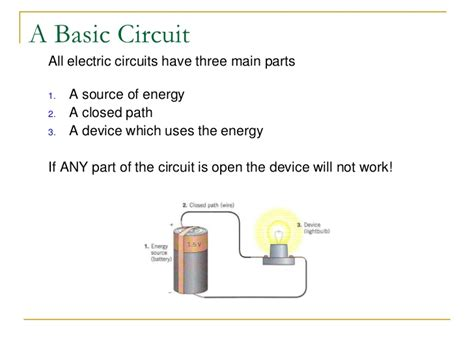 parts of electric circuit electric circuits
