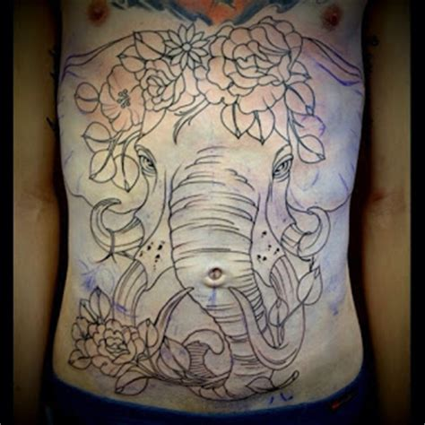 elephant tattoo chest piece acanthus apparel tattoo thursday february 2013
