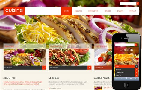 web cuisine cuisine a hotel mobile website template by w3layouts