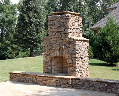 outdoor rock fireplace moss rock outdoor fireplace in hoover al