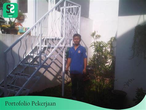 Tangga Besi Minimalis di Rancamaya Bogor   Bengkel Las Depok