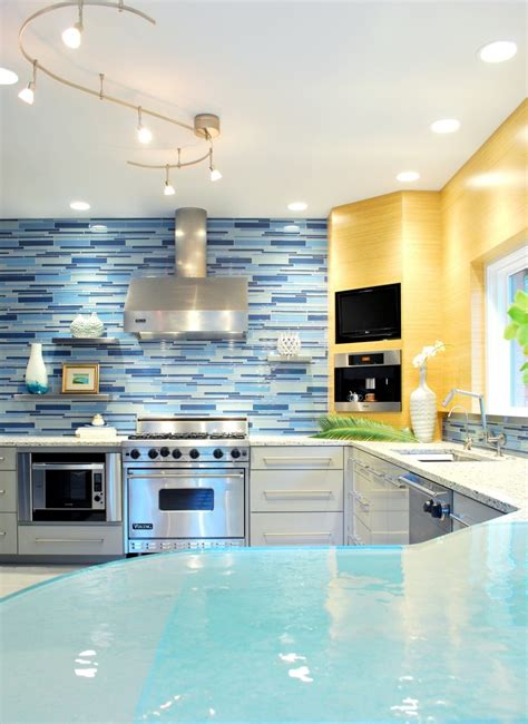 blue kitchen tiles ideas modern kitchen backsplash decobizz com