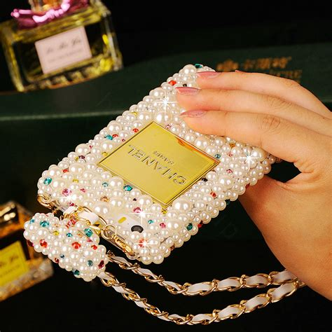 Luxury Fashion Rhinestone Crown Pearl Bling Casecassingcasing Iphone buy wholesale classic chanel perfume bottle cover for iphone 6