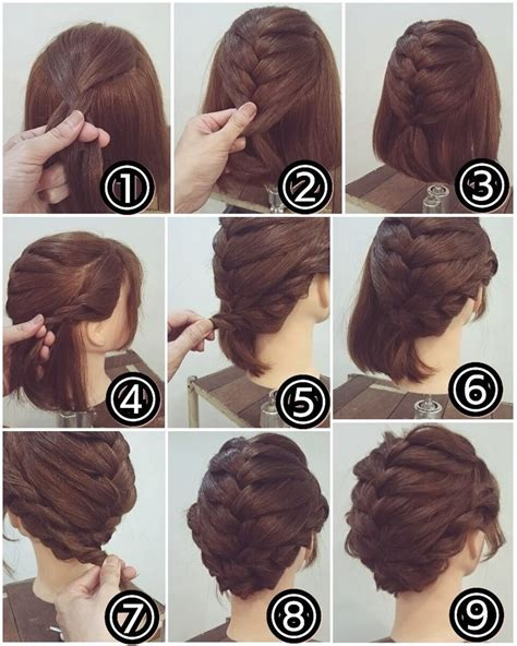 how to make hairstyle for small face recogido cabello corto con trenza cabello pinterest